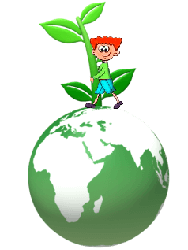 boy hugging plant on top of green earth