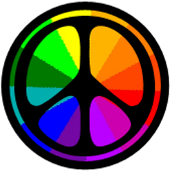 color wheel peace sign
