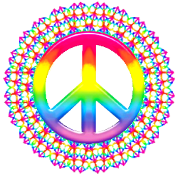 a web of peace signs connected to form peace sign