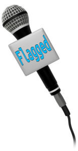 flagged mic with text