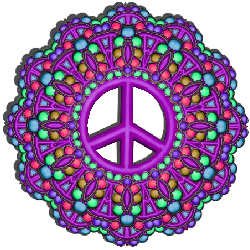 flower peace sign dot pattern