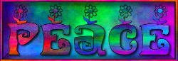 gradient letters on gradient background with flowers