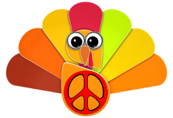 paper turkey peace sign
