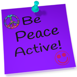 post-it with tac, be peace active
