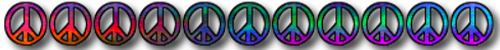 peace sign bottom bar