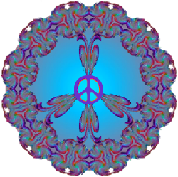 reflective glow peace sign