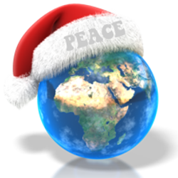 santa hat earth