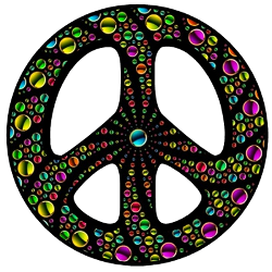 colorful drops peace sign
